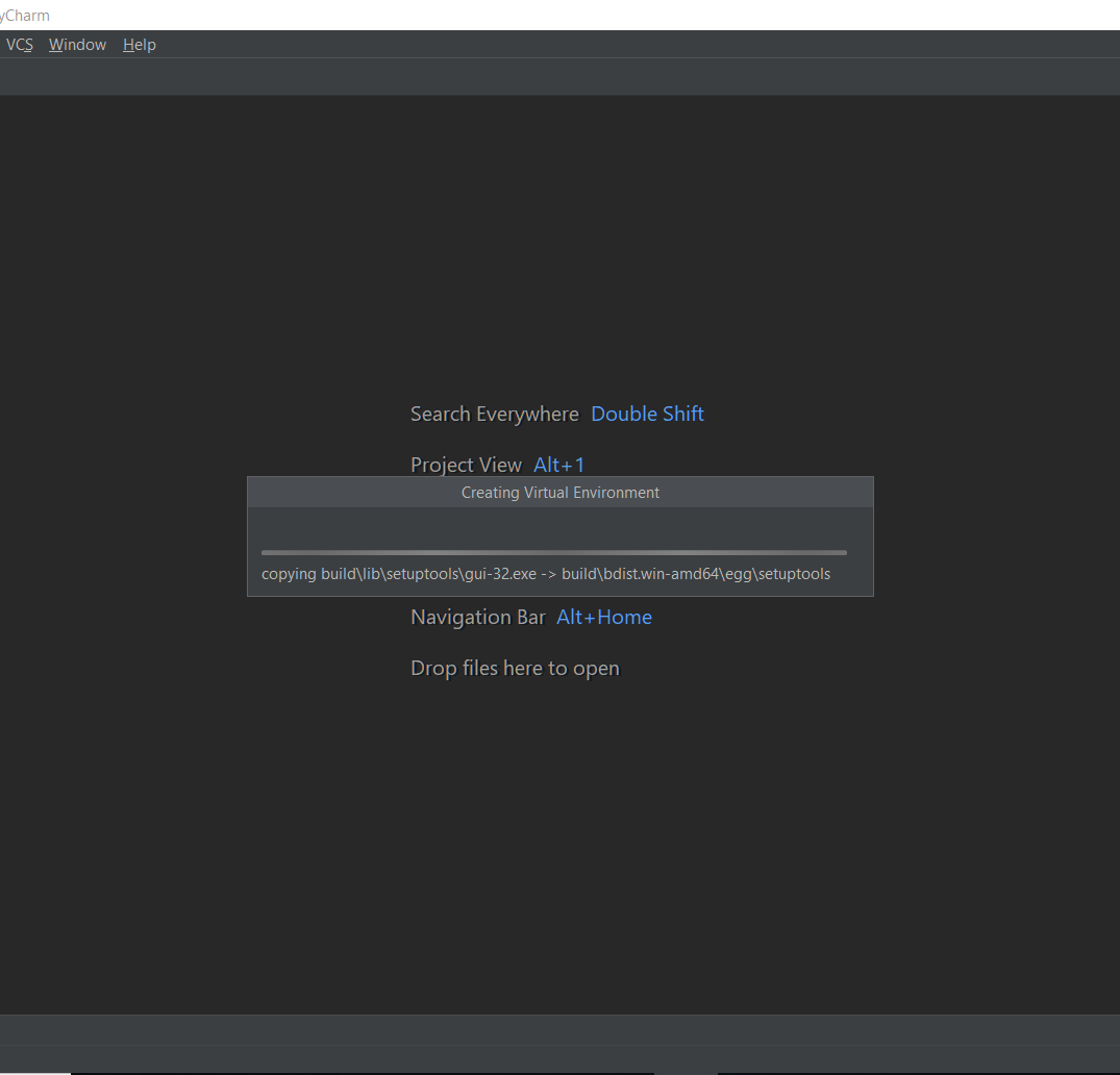 Pycharm New Project Set up