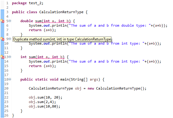 overloading method calculationReturnType